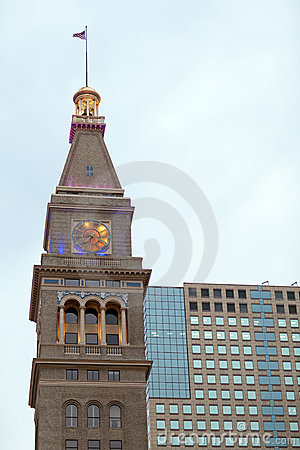 Free Old Clock Tower And Modern Office Building Stock Photos - 13827843