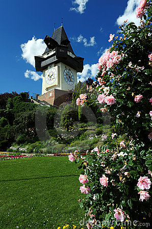 Free Old Clock Tower In Graz Royalty Free Stock Photo - 11333535