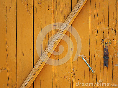 Old closed wooden door backgrounds