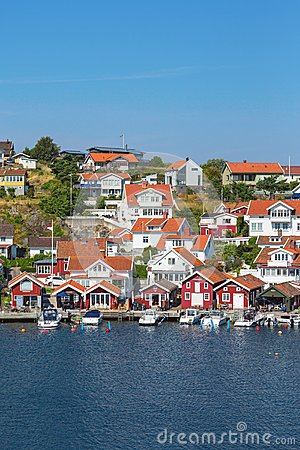 Free Old Coast Village On Swedish West Coast Royalty Free Stock Photography - 54788677