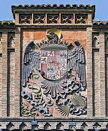 Old coat of Spain in Toledo