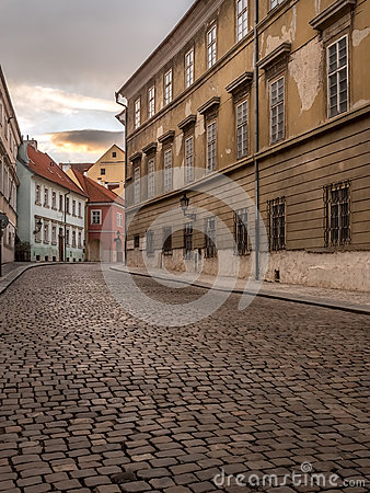 Free Old Cobble Street In Prague Castle District Stock Photography - 88501032
