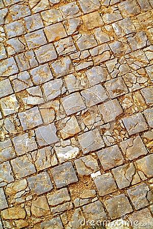 Old cobblestone pavement