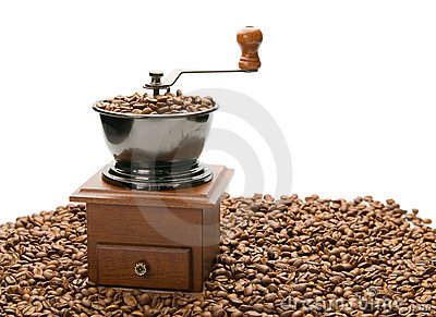 Old coffee grinder.
