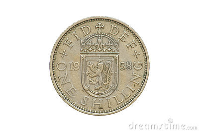 Old Coin 1958 One Shilling