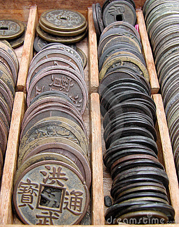 Free Old Coins Royalty Free Stock Photography - 85757