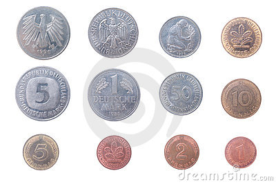 Old coins of the Germany