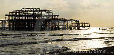 Old collapsing Brighton pier