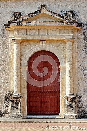 Old Colonial Era Door in Colombia