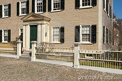 Old colonial home front entrance