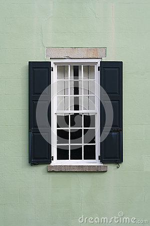 Old Colonial Window With Shutters Stock Images Image 28541394