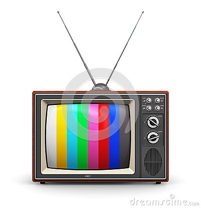 Free Old Color TV Royalty Free Stock Image - 39840306