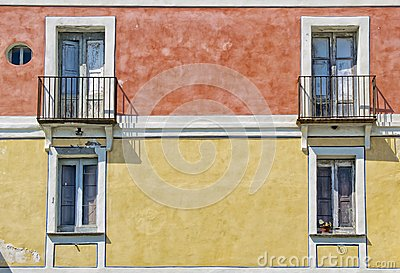 Old colorful building facade
