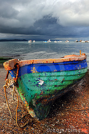 Free Old Colorful Fishing Boat Royalty Free Stock Photography - 7730807