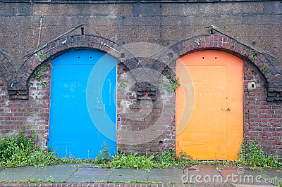 Old colour doors