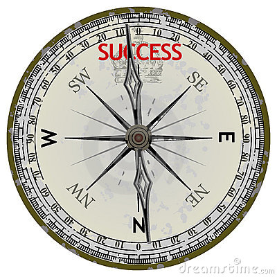 Old Compass. Course To Success