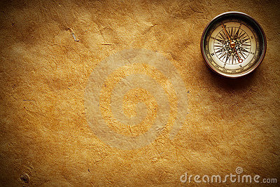 Old Compass and paper