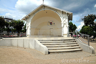 Ahlbeck historic concert stage at the seaside