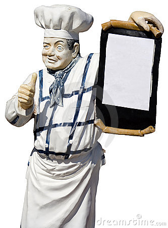 Old cook statue