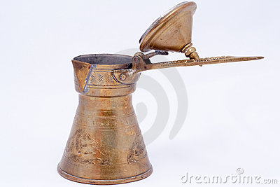 Old copper cezve