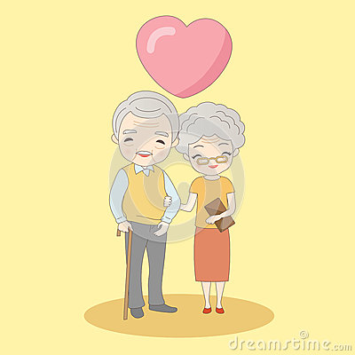 Free Old Couple Smile To You Royalty Free Stock Image - 77110736