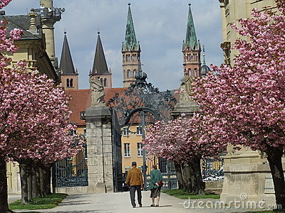 Old Couple in Spring