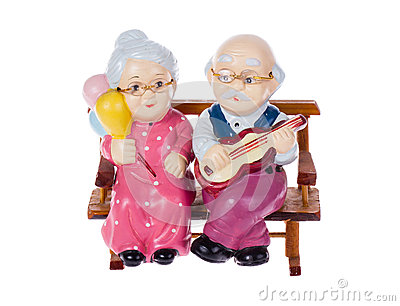 Old couple toy