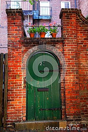 Old courtyard doorway