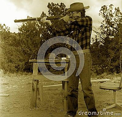 Old Cowboy Shooting