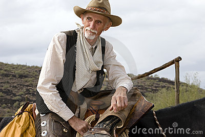 Old Cowhand Western American Cowboy
