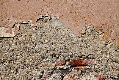 Old cracked wall texture with bricks