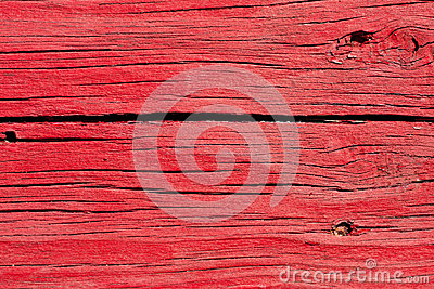 Old Cracked Red Wooden Boards