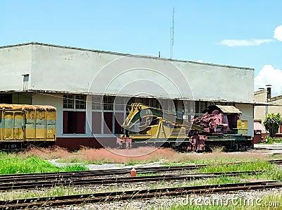 Old crane train