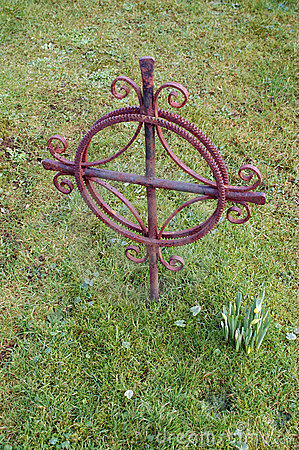 Old cross on a graveyard