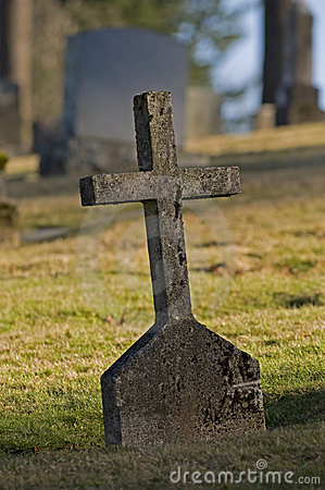 Old cross headstone