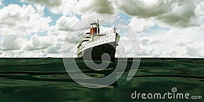 Old cruise ship