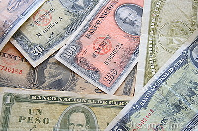 Old cuban money