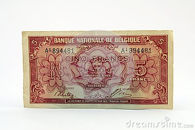 Old currency bill