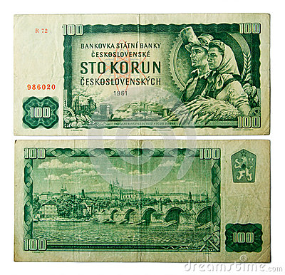Old Czechoslovak banknotes