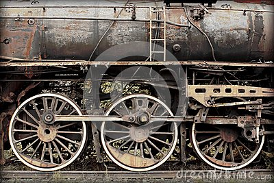Old damaged rusted train