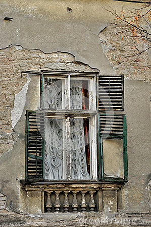 Old damaged window