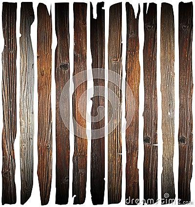 Free Old Damaged Wood Planks On White Stock Images - 42037564