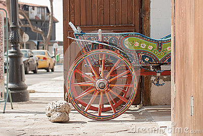 Old decorated wagon