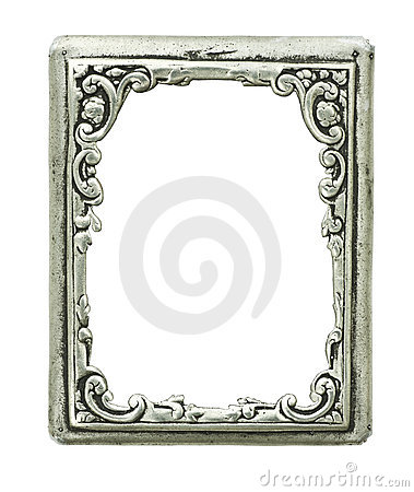 Old decorative silver frame