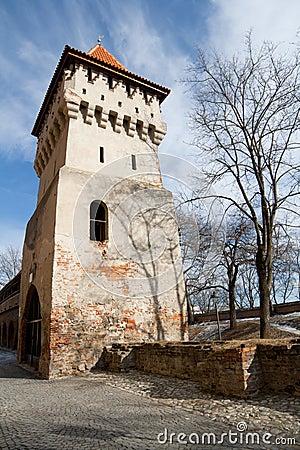 Old defensive tower in Sibiu, Romania
