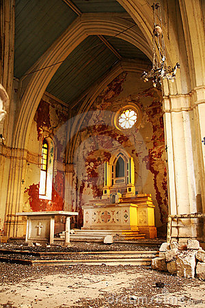 Free Old, Demolished Church – Inside, Interior. Royalty Free Stock Photos - 7271908