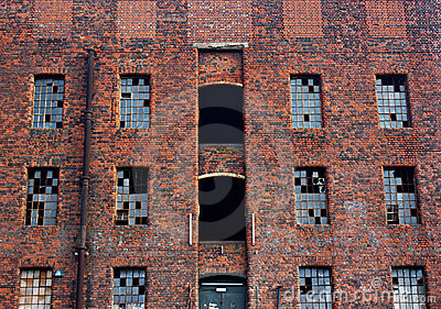 Old derelict victorian warehouse