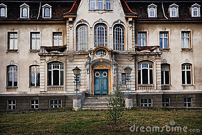 Old deserted mansion with ghosts