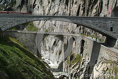 Old Devil s Bridge near Andermatt