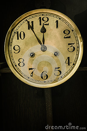 Free Old Dial Clock Stock Photography - 35343012